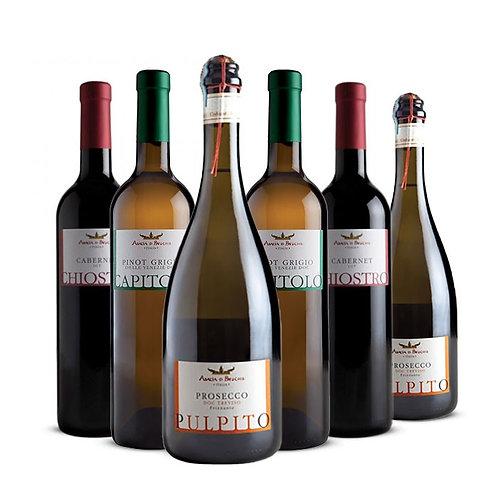 Confezione 6 bottiglie - Prosecco Frizzante, Cabernet e Pinot Grigio