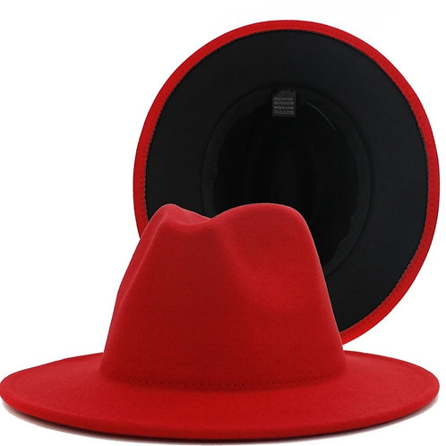 Be Bold - Red/Black Fedora