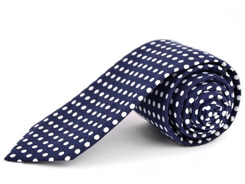 Blue Polka Dot Tie