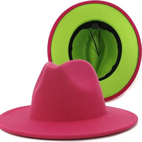 AKA Me Fedora - Pink/Lime Green