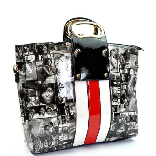 Stripe it Obama bag