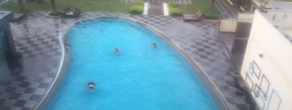 Swimming in our Hotel
