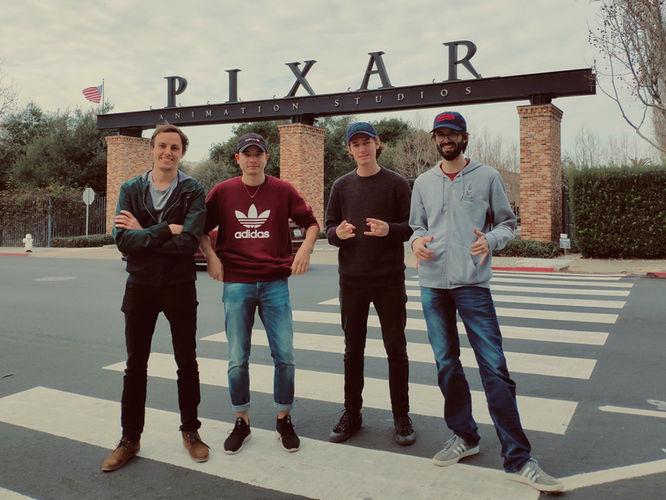 Les étudiants visitent PIXAR