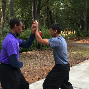 Yin-Yang Symbol partner drill training