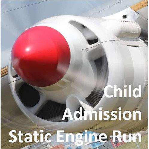 Child Admission - Engine Run (12-16 yrs)