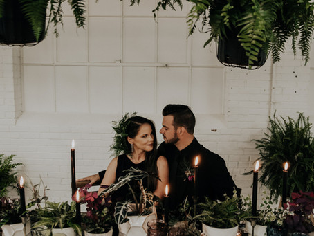 Dark and Moody Warehouse Elopement