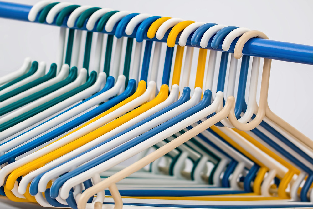 Uniform hangers are visually appealing