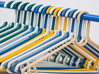 Save closet space with uniform hangers