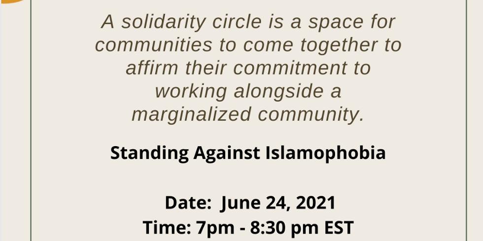 Solidarity Circle - Standing Against Islamophobia