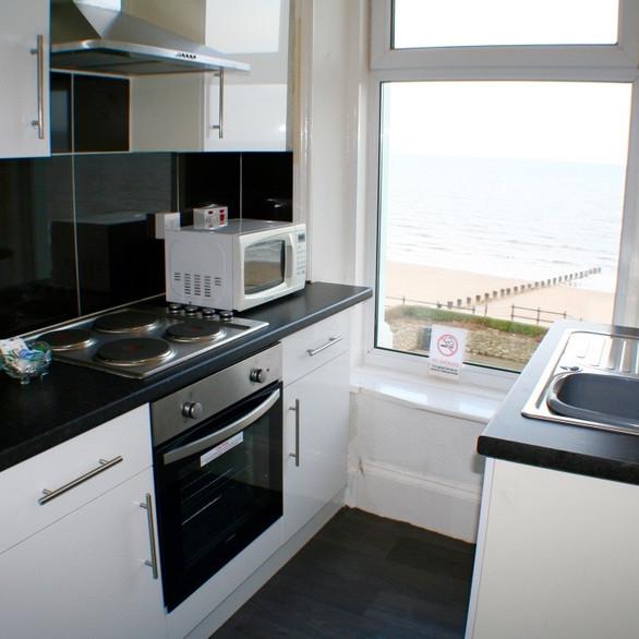 Apartment 5 kitchen with sea views