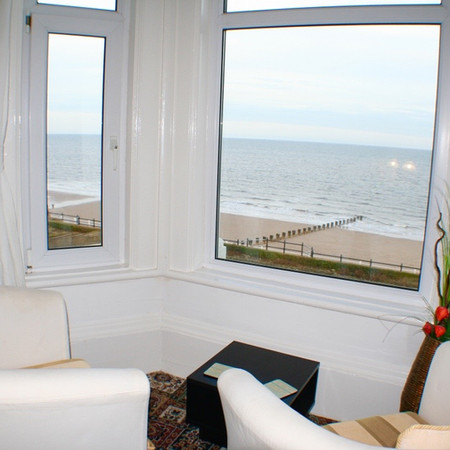 Sea view from lounge in Apartment 5