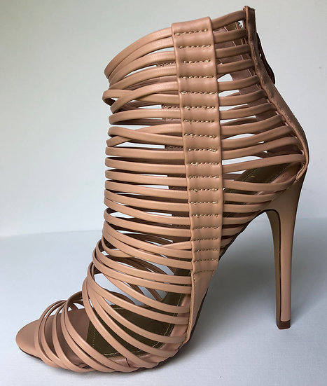 Nude Strappy Stilettos