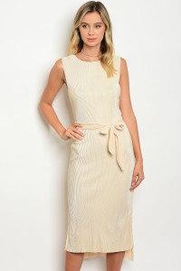 Ivory Pleated Dress