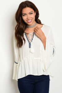 Ivory Tribal Top