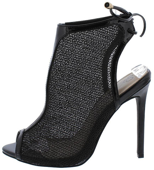 Black Mesh Stilettos