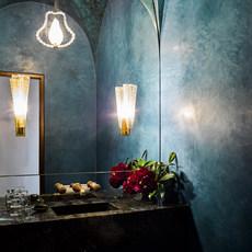 Venetian Plaster Powder Room - Groin