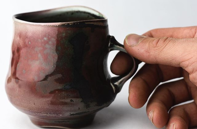 Check out the red in this mug! The back