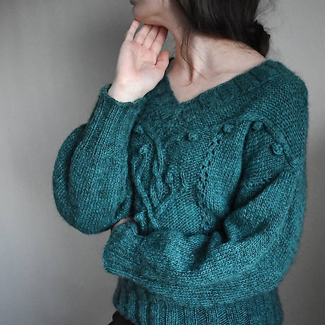 Woodspirit sweater by Katerina Rieckel