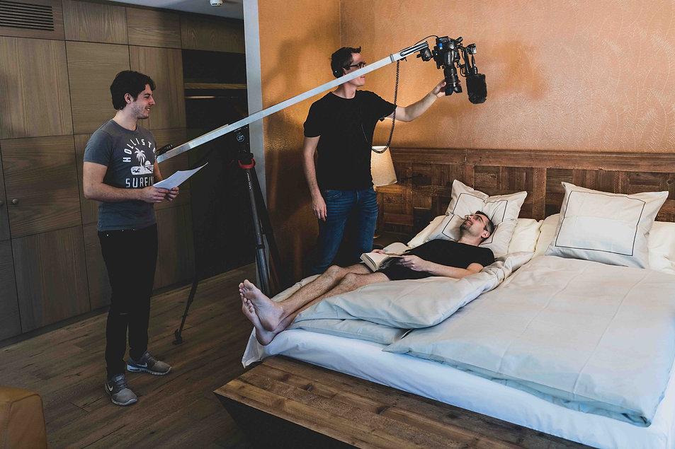 Marco an der Kamera, Matteo führt Regie