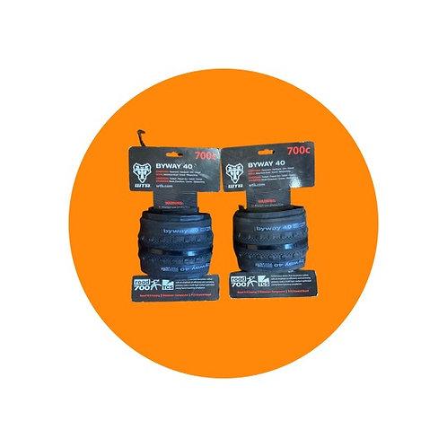 Pair WTB BYWAY 700 x 40 gravel tyres