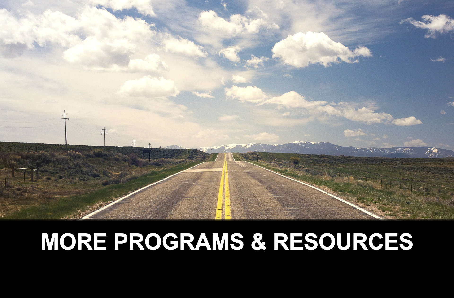 MORE PROGRAMS RESOURCES