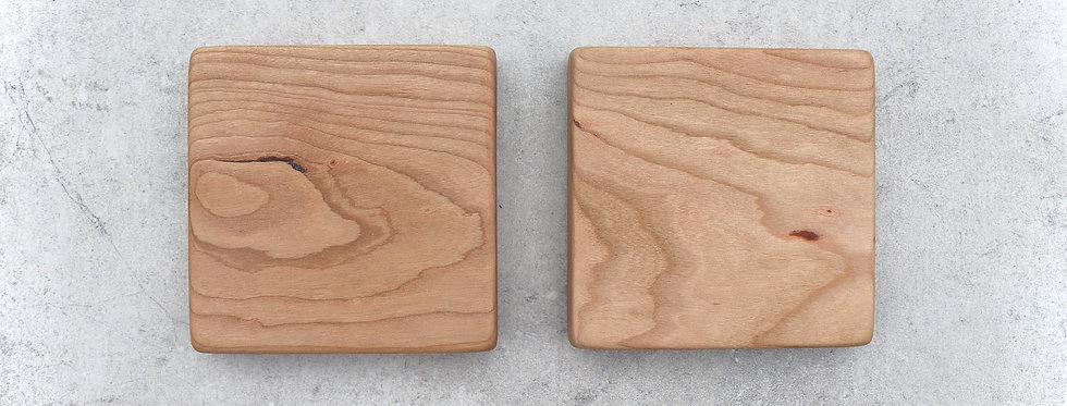English Cherry Coasters - Set of 2