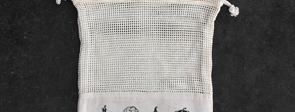 Small Fairtrade Cotton Mesh Vegetable Bag