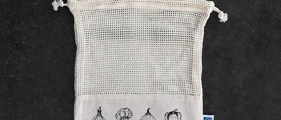 Small Fairtrade Cotton Mesh Vegetable Bag