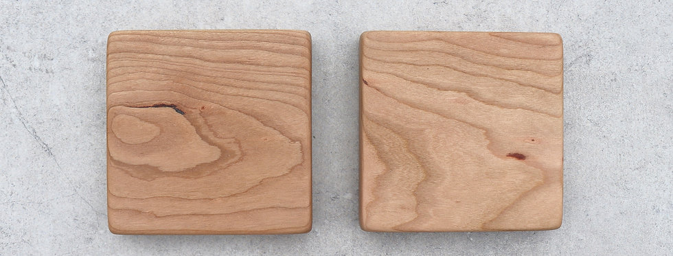 English Cherry Coasters - Set of Two
