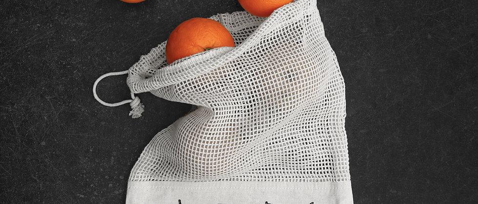 Small Fairtrade Cotton Mesh Fruit Bag