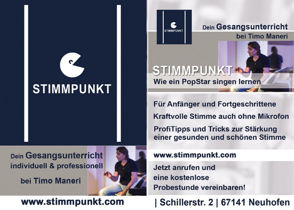 Stimmpunkt Gesangsunterricht bei Timo Maneri