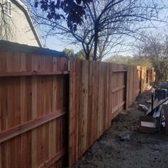 Redwood Dog Ear- 3 Rail Fence