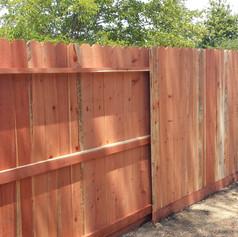 Redwood Dog Ear- 3 Rail with Kicker Fence