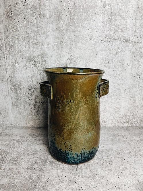 olive blues utensil holder/vase