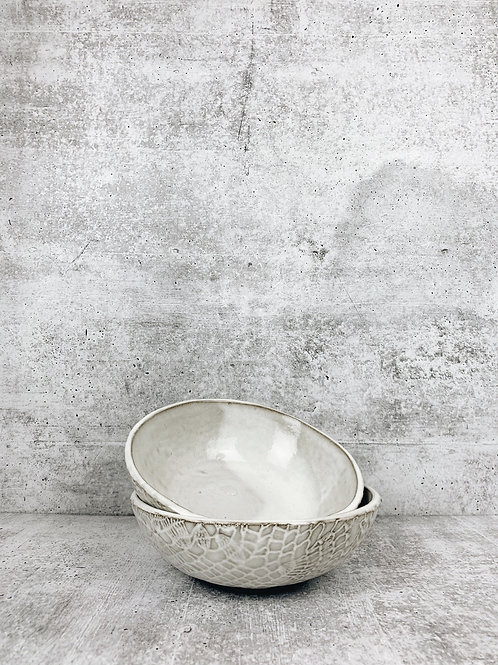 white lace soup/cereal bowl