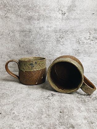 forest floor leaf mug