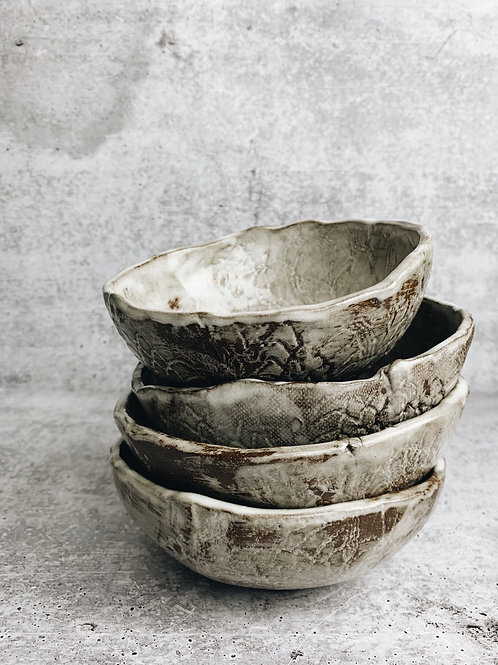 lace white wash dessert bowl