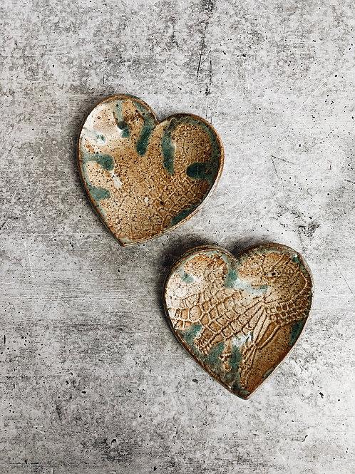 sand & sea heart dish