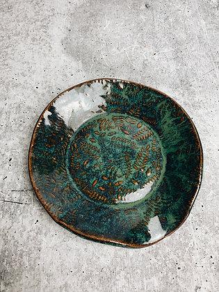 oceans green fern spoon rest