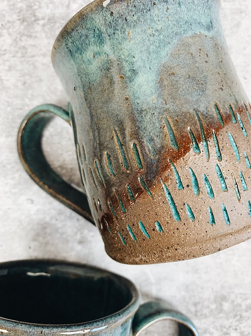 lines in the sand mug