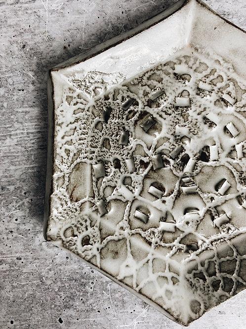 lace white wash garlic scraper