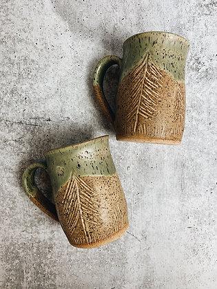 forest floor tree mug