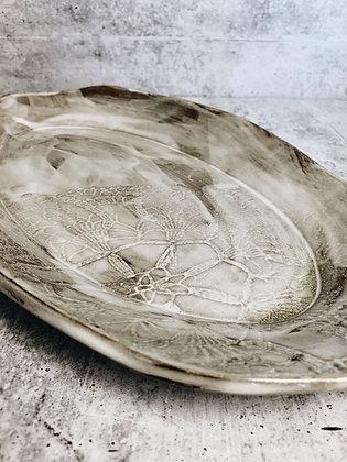 white wash lace platter