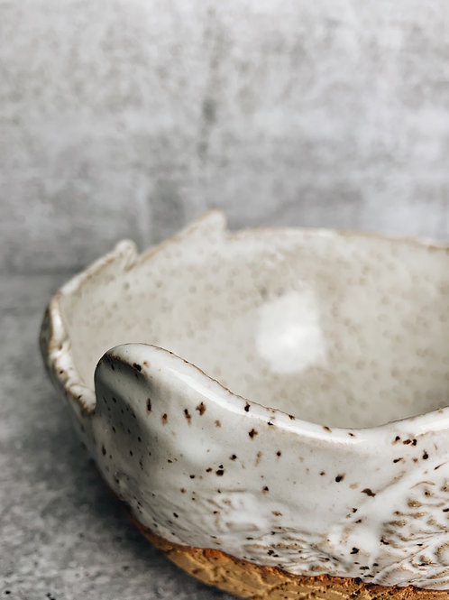 Simple white speckle bowl