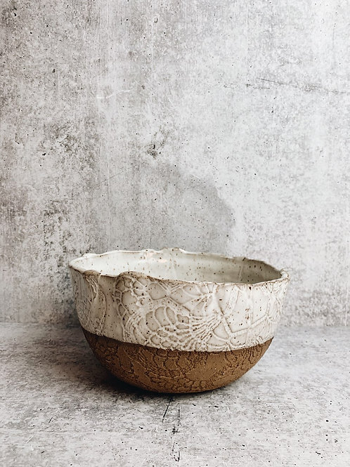 simple white serving bowl
