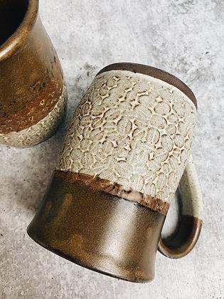 rustic coffee bean mug