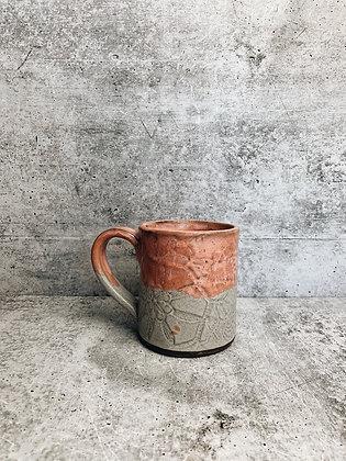 coral lace mug
