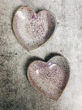 lilac heart dish