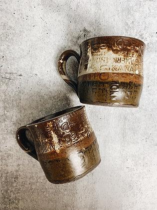 rustic cappuccino mug