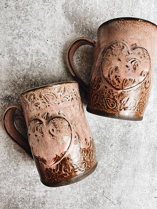 paisley heart mug